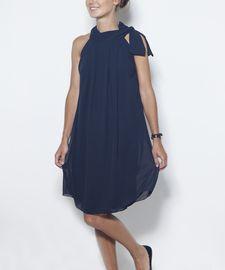 LeMuse kūryba. LeMuse Deep Blue Dress with a Bow