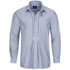 Trachtenhemd Regular Fit in Blau von Hammerschmid Jeans, Shirt Dress, Fit, Mens Tops, Shirts, Dresses, Fashion, Chic, Dressing Up