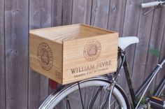 Dig this DIY from field guided: Put a champagne box on the back of yo' bike.