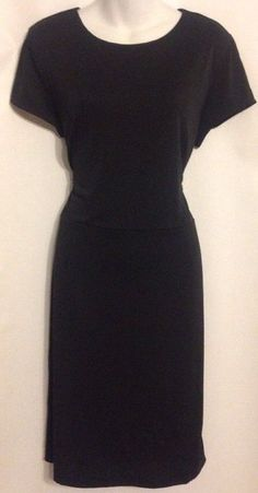 Ann Taylor Size 14 Little Black Dress Cap Sleeves Polyester Blend NWT $98 #AnnTaylor #SheathStretchBodycon #LittleBlackDress #Dress #WomensFashion