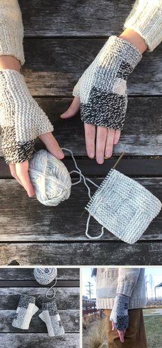 Log Cabin Mitts (free pattern) section of information related to. Crochet Gratis, Crochet Socks, Free Crochet, Knit Crochet, Fingerless Gloves Knitted, Knit Mittens, Knitting Socks, Knitting Patterns Free, Free Knitting