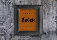 Orange Digital Halloween Decorations Printable Eek Party