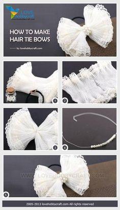 Craft baby diy hair bows 36 ideas for 2019 Making Hair Bows, Diy Hair Bows, Hair Ribbons, Ribbon Bows, Felt Bows, Diy Ribbon, Diy Headband, Baby Headbands, How To Make Hair