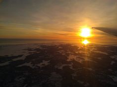 Free image - aerial sunset over Finnland