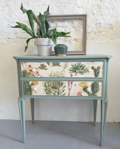 Fusion Mineral Paint European Type Dala Muses Painted by Goed - Repurposed Furniture Decoupage Furniture, Funky Furniture, Refurbished Furniture, Paint Furniture, Repurposed Furniture, Furniture Projects, Furniture Makeover, Home Furniture, Bedroom Furniture