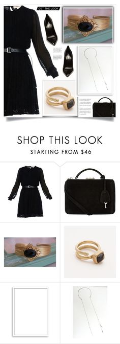 """Black!!"" by samra-bv ❤ liked on Polyvore featuring MICHAEL Michael Kors, Mark Cross, Bomedo and Yves Saint Laurent"