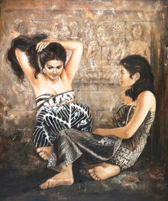 Impressioni Artistiche : ~ Josephine Linggar ~ Indian Women Painting, Indian Paintings, Indian Art, Anatomy Models, Indonesian Art, Realism Art, Woman Painting, Erotic Art, Beautiful Paintings