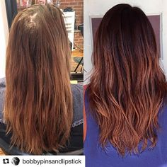 | From blonde to brunette by Abby |  #fallhaircolor #durhamstylist #brunette