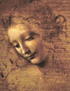Testa di fanciulla(dettaLa Scapigliata), circa 1508,  Leonardo da Vinci, Galleria Nazionale, Parma