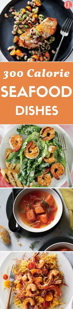 Eat great while watching your calories with this collection of satisfying low-calorie seafood recipes. We'll get you started with this collection of seafood recipes that are short on calories but big on flavor. | Cooking Light