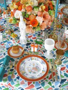 Spring table for event at Travadavi in Atlanta