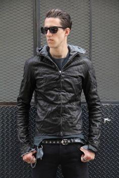 Ma+ Aviator leather jacket