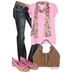 """Pink & Gucci"" by garbowvu on Polyvore"