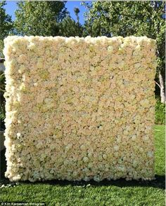That's generous! Kim's Kardashian fiance Kanye West gave her a wall of flowers to celebrate her first Mother's Day