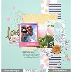 Wendy @wantenucci is up on the blog with this fabulous LO using our April kits  @americancrafts @amytangerine @cratepaper @websterspages @ellesstudio @hkswapp