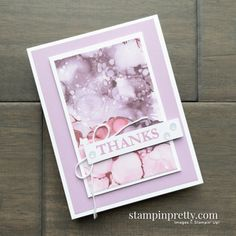Mary Fish, Stampin Up Paper Pumpkin, Stampin Pretty, Pumpkin Cards, Thanks Card, Wood Stamp, Greeting Cards Handmade, Homemade Cards, Stampin Up Cards