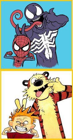 Mashup de Calvin e Haroldo (Homem Aranha - Venom)