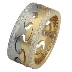 Diamond Wedding Band, Free and Together | www.weddingbands.com | @Wedding Bands