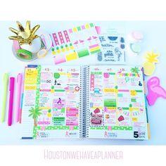 Last weeks layout was pineapples&flamingoes  I love my little pineapple jewelry tray from Francesca's! #erincondren #erincondrenlifeplanner #eclp #eclpcommunity #lifeplanner #planner #planneraddict #plannerjunkie #planners #plannernerd #organize #plannerlove #plannergeek #plannergoodies #planneraccessories  #antman #plannerstickers #organization #stickers #washitape #flamingoes #pineapple #targetdollarspot #postit #houstonplannerpeeps #houstonwehaveaplanner