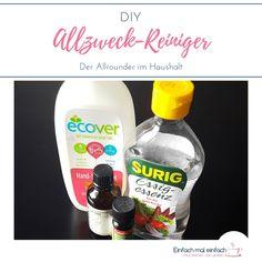 Zum Putzen ohne Chemie benötigst Du nur wenige Zutaten, um einen Reiniger selber zu machen. Dieser DIY Allzweckreiniger ersetzt die meisten Reiniger in Deinem Haushalt und bringt sogar noch desinfizierende Eigenschaften mit.