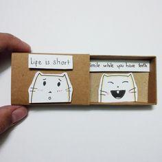 Love & Friendship – Encouragement card - Card Matchbox, Gretting Card – a unique product by Jung-Tran-Jung on DaWanda