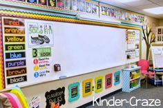 bright rainbow kindergarten classroom tour with classroom rules subway art