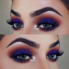 When it comes to eye make-up you need to think and then apply because eyes talk louder than words. The type of make-up that you apply on your eyes can talk loud about the type of person you really are. Gorgeous Eyes, Gorgeous Makeup, Love Makeup, Makeup Inspo, Makeup Art, Makeup Style, Fall Makeup Looks, Amazing Makeup, Make Up Looks