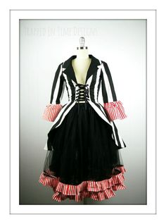 Ringmaster Costume Striped Ringleader by TrappedInTimeDesigns