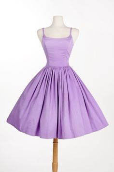 Jenny Dress in Lavender Sateen   Pinup Girl Clothing