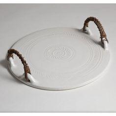 Handmade ceramic cheese tray