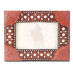 Tooled Leather Studs 4 x 6 Photo Frame (PH30)