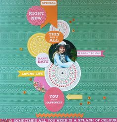 Вертикальная композиция из кругов. Эта коллекция в Scrapbook.kz: http://www.scrapbook.kz/products/76/