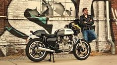 The Honda was built in big numbers and used widely as a trusty work horse all around the world, and. Cx500 Cafe, Honda Cx500, Honda Motorcycles, Cx 500, White Cafe, Cafe Racer, Bike, Black And White, Vehicles