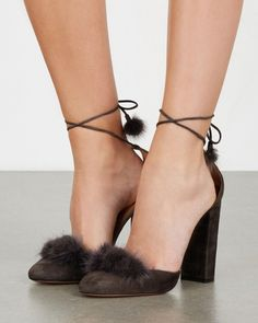 AQUAZZURA Wild Russian fur-trimmed pumps | Buy ➜ https://shoespost.com/aquazzura-wild-russian-fur-trimmed-pumps/