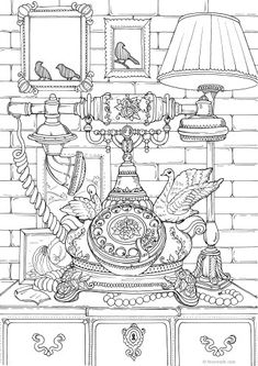 The Best Free Adult Coloring Book Pages Emoji Coloring Pages, Tree Coloring Page, Printable Adult Coloring Pages, Doodle Coloring, Colouring Pages, Free Coloring, Coloring Stuff, Vintage Coloring Books, Colorful Drawings