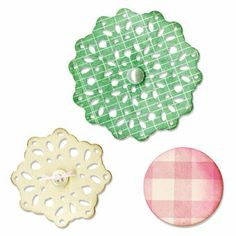 Sizzix Thinlits Stanzer Set 3 Stück - Lace, Layering Decorator by Scrappy Cat