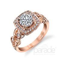 Parade Lyria Bridal Engagement Ring #RoseGold #Weddings #EngagementRings #Diamonds #WilliamsDiamondCenter #Jewelry