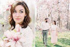 Michigan Film Photography, magnolia tree, spring engagement session, emily jane engagements, emily jane photography, emilyjanephotography.org, contax 645, fuji 400