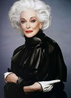 Carmen dell'Orefice -83 years old and still a working model.  Last gig.  Harpers Bazaar cover 2013...  She is a phenonmenom!