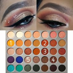 Makeup looks – Lush Makeup Ideas Eye Makeup Steps, Eye Makeup Art, Fall Makeup, Kiss Makeup, Beauty Makeup, Cute Eyeshadow Looks, Gold Makeup Looks, Rose Gold Makeup, Makeup Morphe