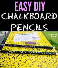 easy diy chalkboard pencils