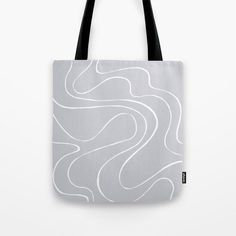 Ebb and Flow 2 - Grey Tote Bag by laec | Society6