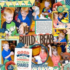 Used the following from the Sweet Shoppe: Template: Half Pack 165: Page Fillers 16 by Cindy Schneider 2016 Life Stories August Bundle - Sugary Fancy Layered Cards: Friendship by Cindy Schneider Alphamania Chipboard 03 - Digilicious Designs Bear from Backyard Boys by Dream Big and Kristin Aagard