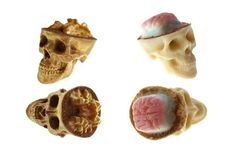 Psychedelic Chocolate Skull Brain Candies