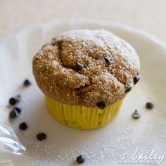 vegan banana chocolate chip muffins- per my girl's request. :-)