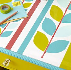 Download a free printable pattern and add start adding interest to surfaces in your home!