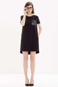 leather pocket dress / madewell