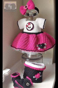 Crochet baby dress baby biker dress crochet baby by hooksandheels