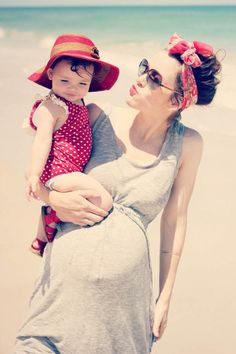 Beach baby, this is the cutest maternity photo I've ever seen