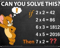 Can you solve this puzzle? Genius Math Puzzles – Only for Genius with Answer Here comes another simple but full of logic math puzzle. Find the logic behind this puzzle calculation and solve this number series. Math Riddles With Answers, Jokes And Riddles, Math Jokes, Tough Riddles, Logic Math, Logic Puzzles, Fun Math, Math Activities, Mathematics Geometry